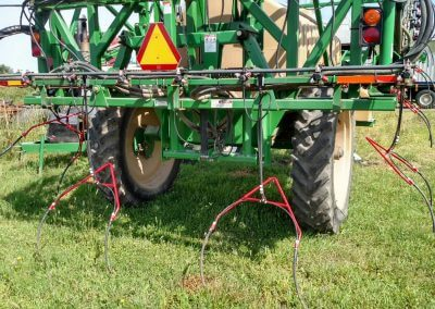 SideDrops on a Pull Type Sprayer.